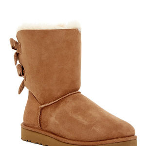 UGG BAILEY CORDUROY BOW SUEDE BOOT CHESTNUT